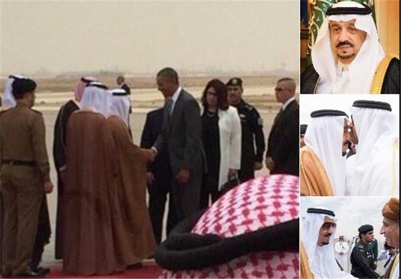 چرا پادشاه عربستان به استقبال اوباما نرفت+تصویر
