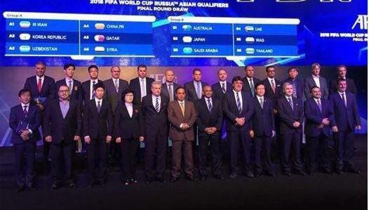 کیروش در مراسم قرعه کشی مقدماتی جام جهانی 2018 روسیه+عکس