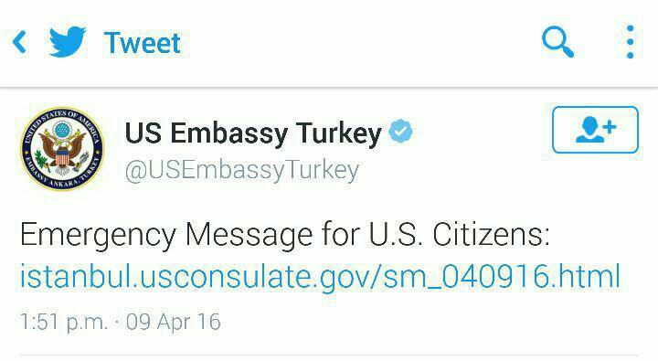 هشدار آمریکا درباره حمله ی تروریستی در ترکیه+تصاویر