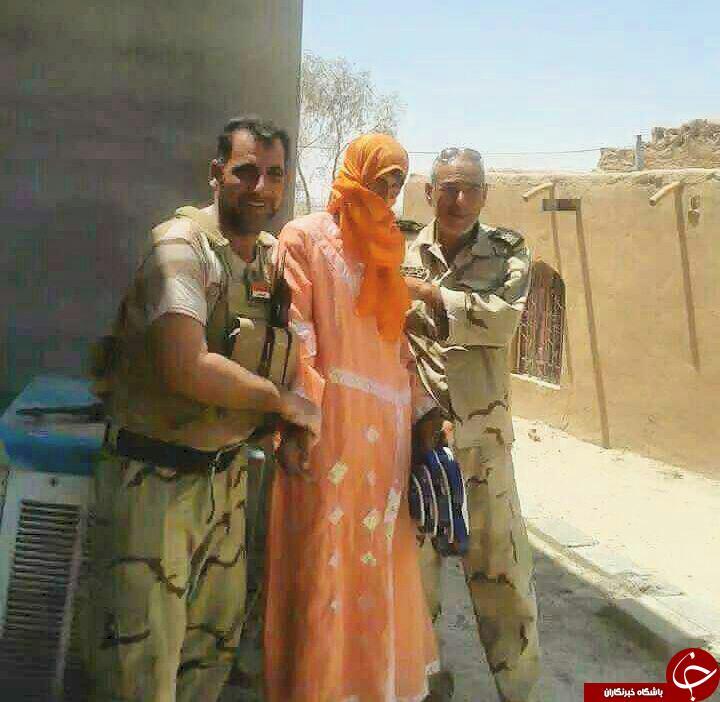 یک داعشی با پوشش زنانه دستگیر شد