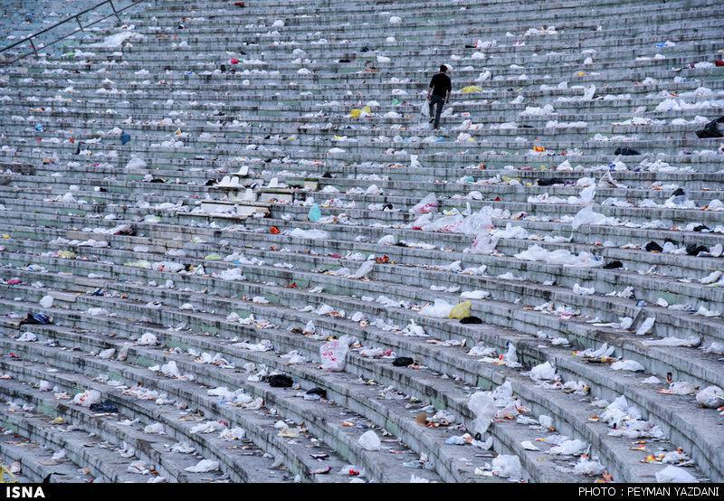 ورزشگاه آزادی بعد از دربی+تصاویر