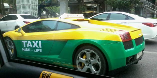 عکس/لامبورگینی در انگلستان تاکسی میشود