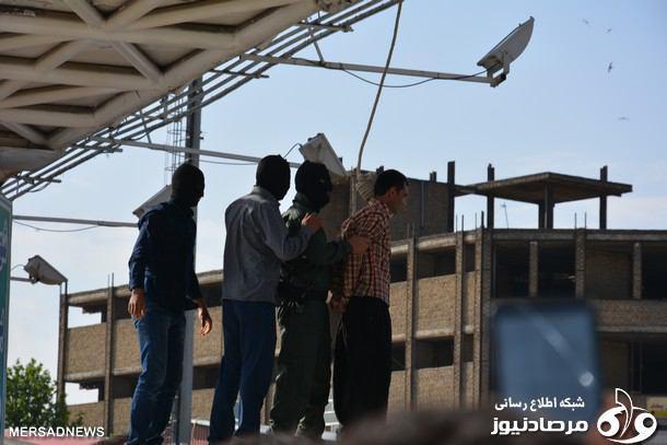سارق خطرناک کرمانشاهی در ملاعام اعدام شد + تصاویر