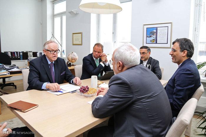 دیدار و گفتگوی محمد جواد ظریف با رئیس جمهور اسبق فنلاند