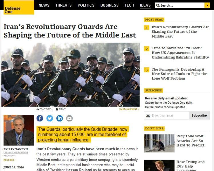 سپاه پاسداران ایران، آینده سیاسی خاورمیانه را رقم خواهد زد