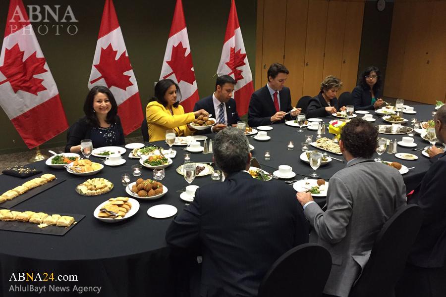 نخست وزیر کانادا بر سر سفره افطار + عکس