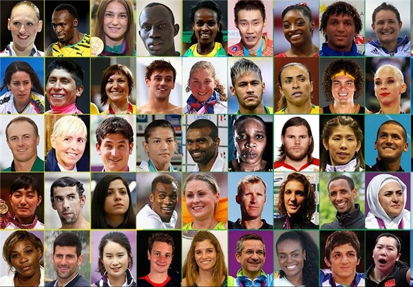 اعلام نام ۵۰ ورزشکار سرشناس بازیهای المپیک ۲۰۱۶ ریو