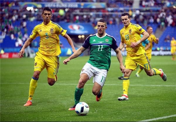 پیروزی ایرلند شمالی مقابل اوکراین
