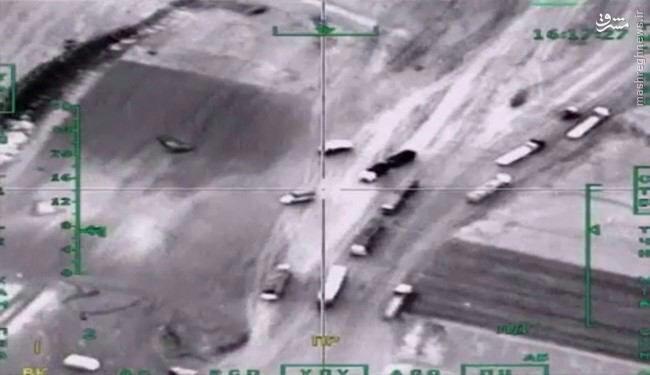 داعش 35 تریلی تسلیحات از ترکیه تحویل گرفت!