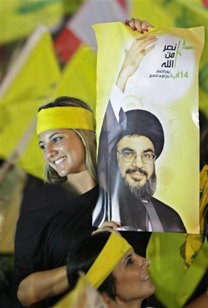 تصاویر/دختران بیحجاب هوادار حزبالله لبنان